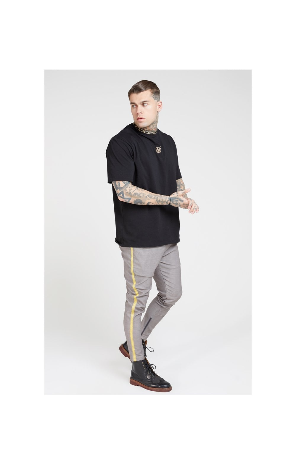 SikSilk Fitted Smart Tape Jogger Pants –Grey (4)