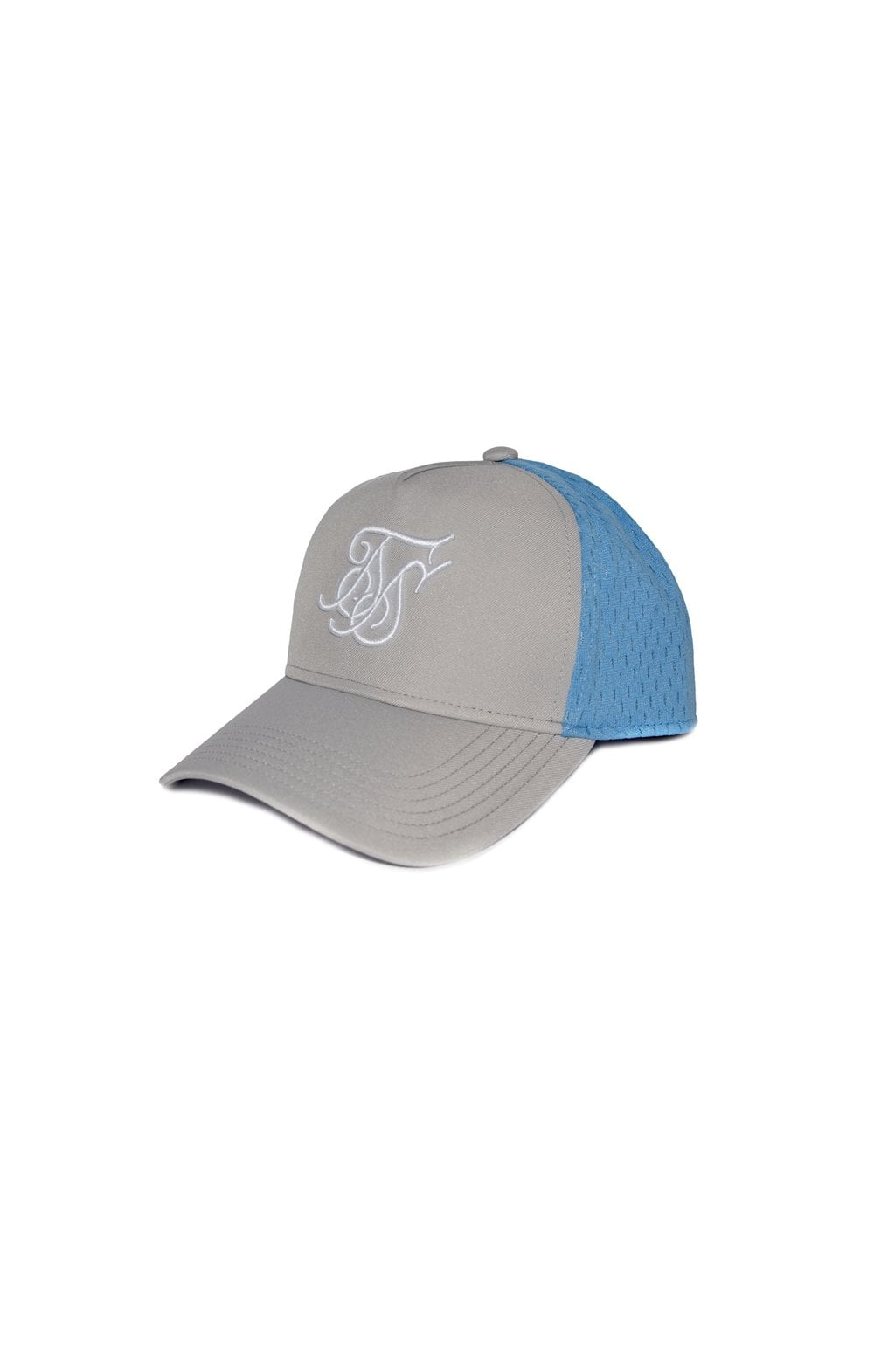 SikSilk Uniform Trucker - Light Grey & Blue