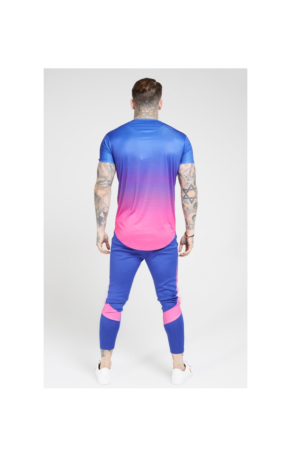 Load image into Gallery viewer, SikSilk S/S Marl Fade Panel Tech Tee – Neon Blue (4)