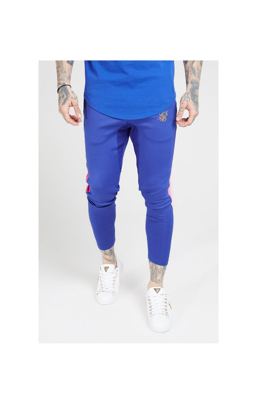 SikSilk Athlete fade Track Pants - Neon Blue