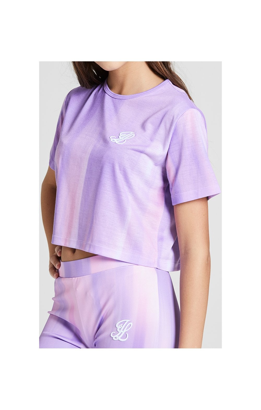Illusive London Cropped Marble Tee - Lilac & Marble