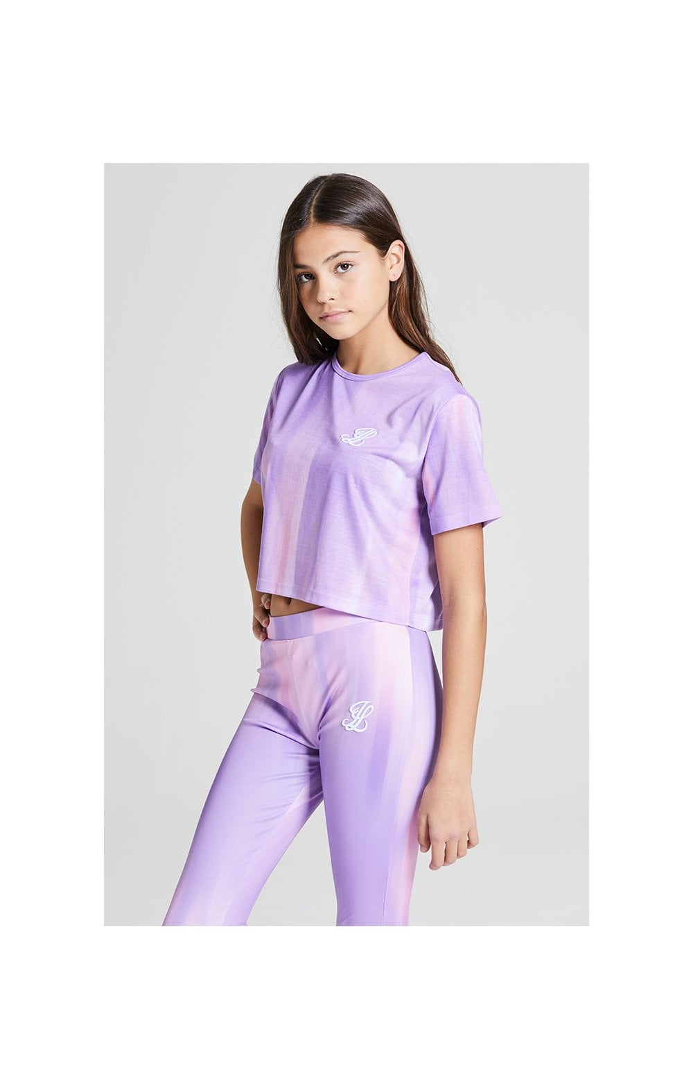 Illusive London Cropped Marble Tee - Lilac & Marble (2)