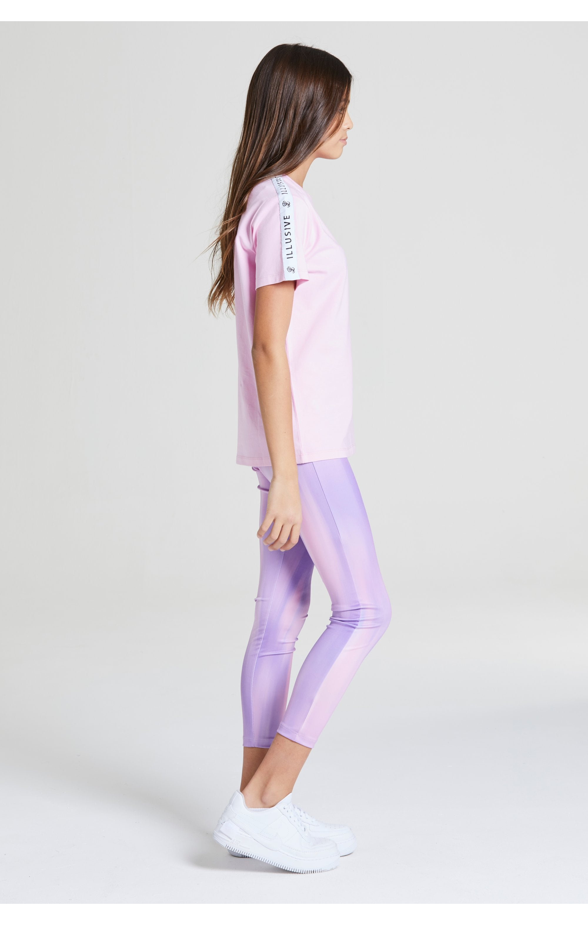 Illusive London BF Fit Taped Tee -  Pink (5)