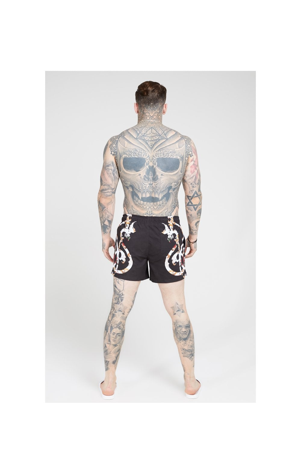 SikSilk Standard Swim Shorts – Floral Scroll (4)