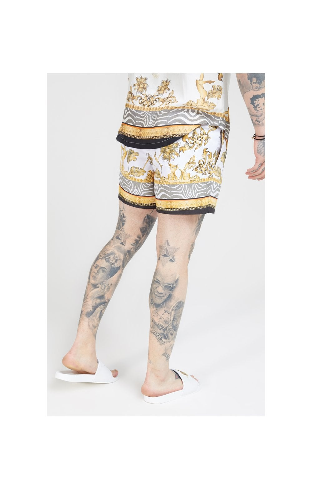 SikSilk Standard Swim Shorts – Ocean Off White (1)