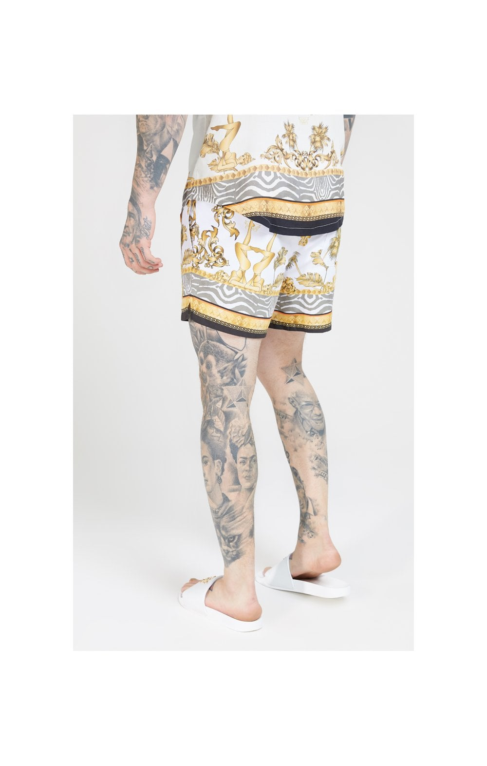 SikSilk Standard Swim Shorts – Ocean Off White (2)