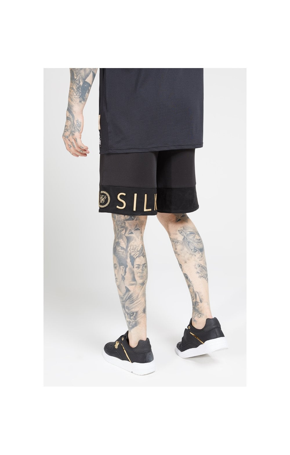 SikSilk Relaxed Shorts - Black & Gold (3)