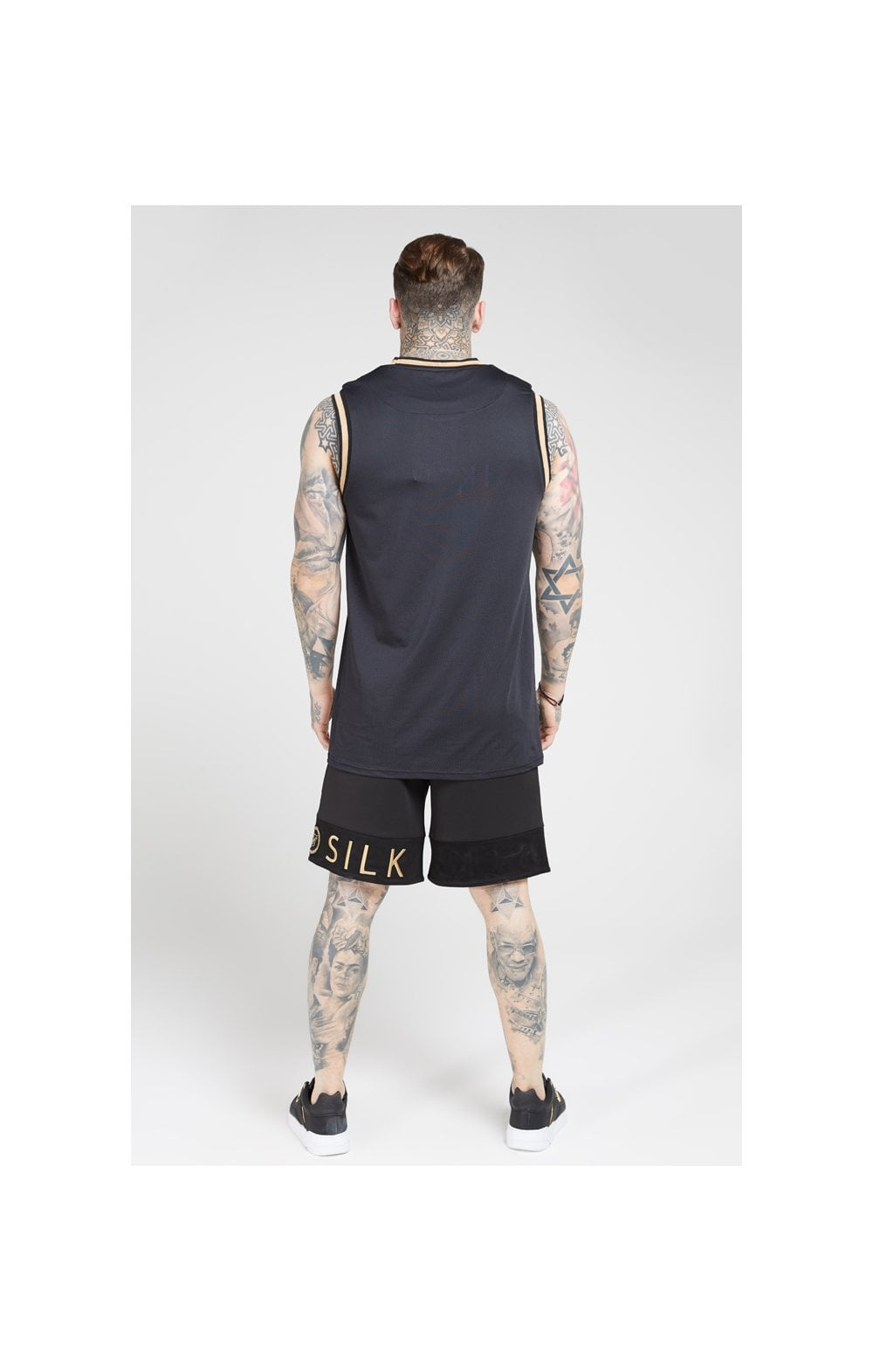 SikSilk Relaxed Shorts - Black & Gold (5)
