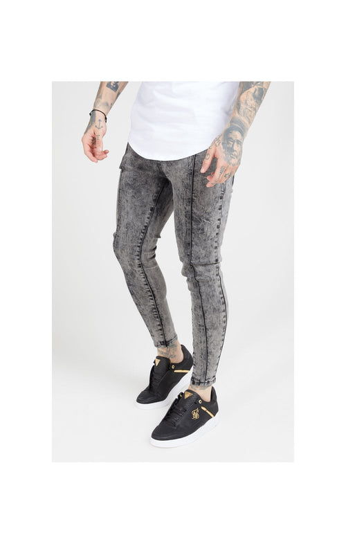 SikSilk Pleated Drop Crotch Denims – Snow Wash