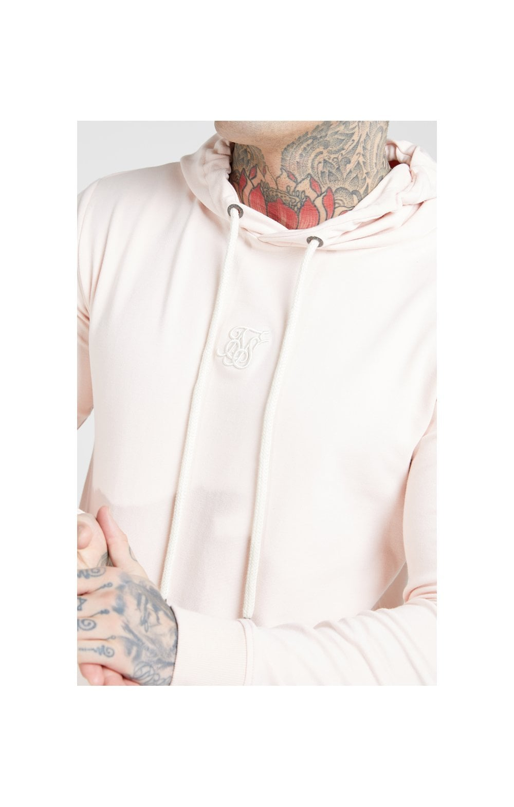 SikSilk Overhead Muscle Fit Hoodie - Cloudy Pink