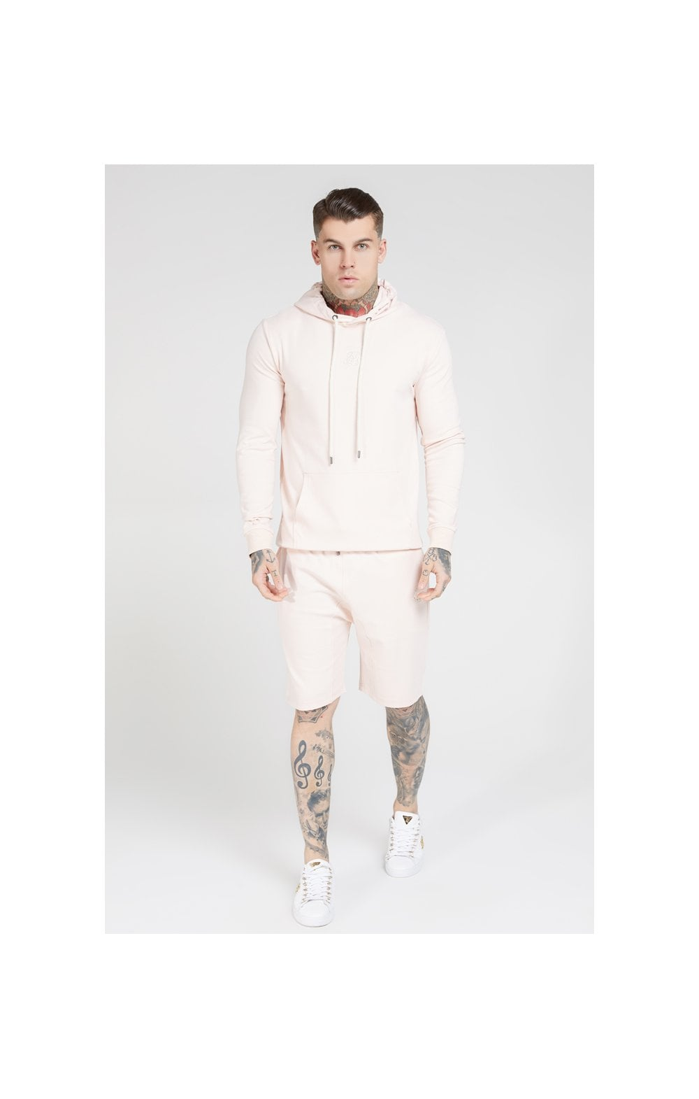 SikSilk Overhead Muscle Fit Hoodie - Cloudy Pink (2)