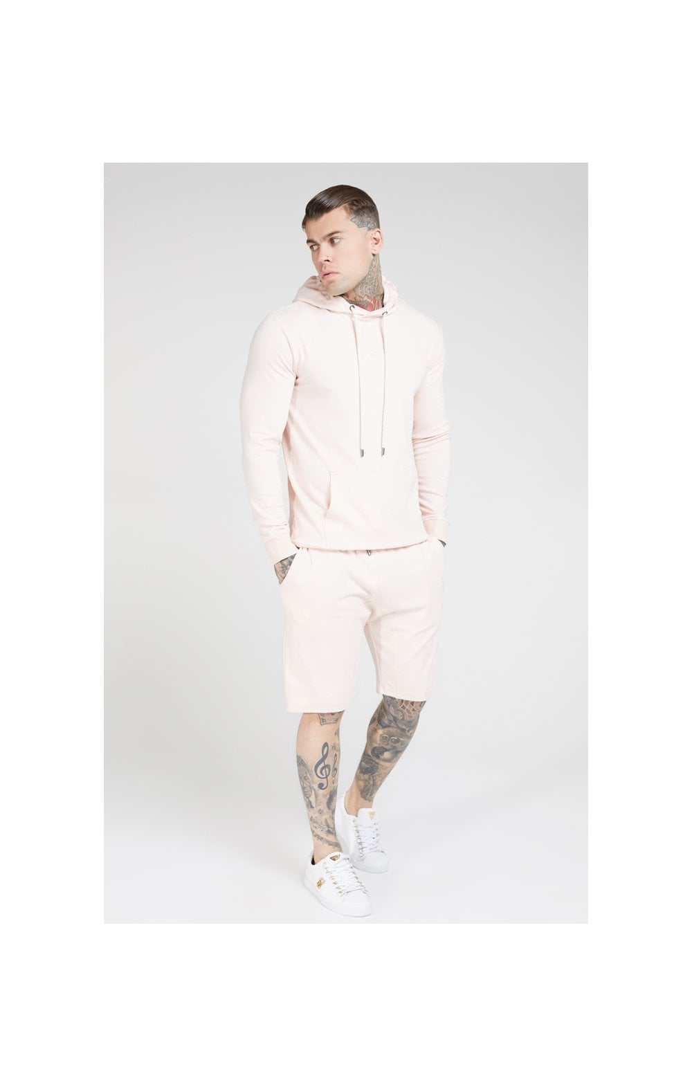 SikSilk Overhead Muscle Fit Hoodie - Cloudy Pink (3)