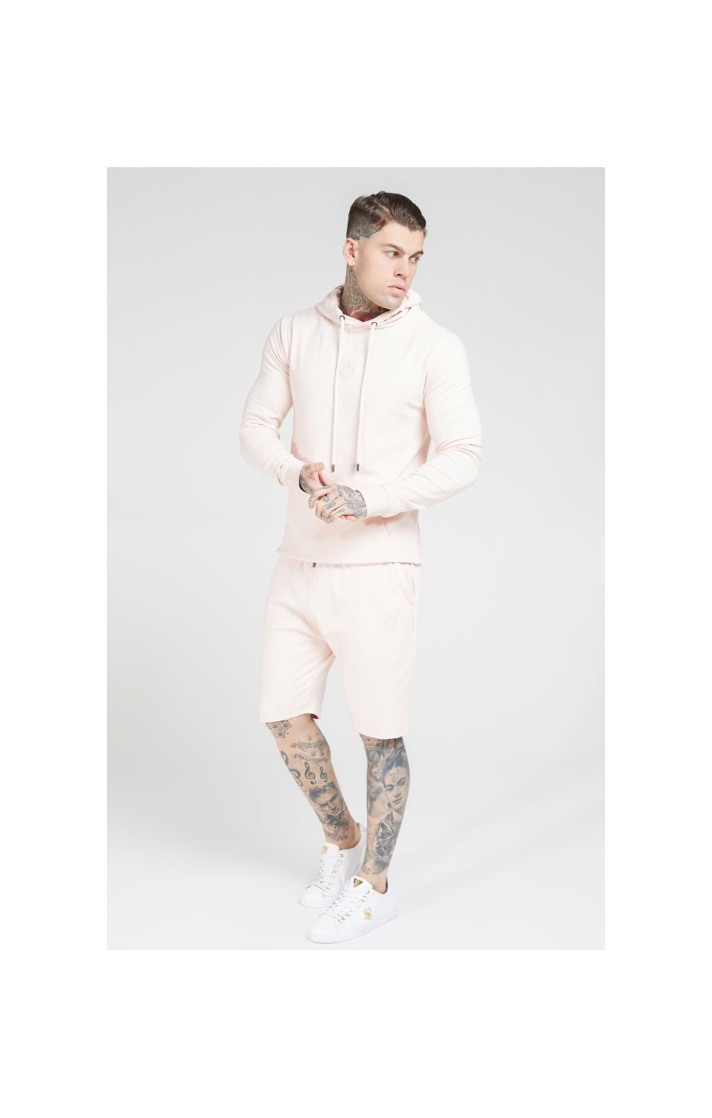 SikSilk Overhead Muscle Fit Hoodie - Cloudy Pink (4)