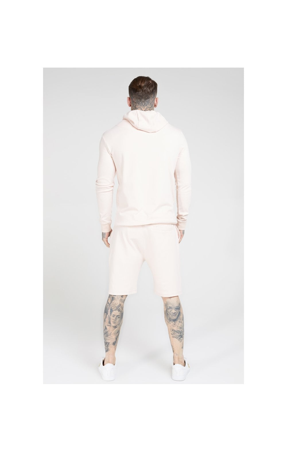 SikSilk Overhead Muscle Fit Hoodie - Cloudy Pink (5)