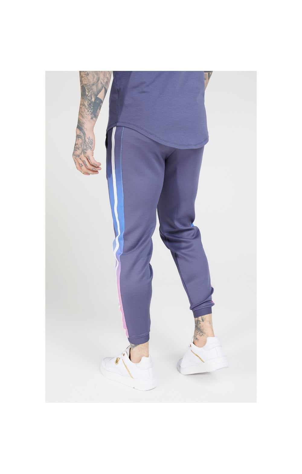 SikSilk Fitted Fade Cuffed Pants – Tri-Neon Fade (2)