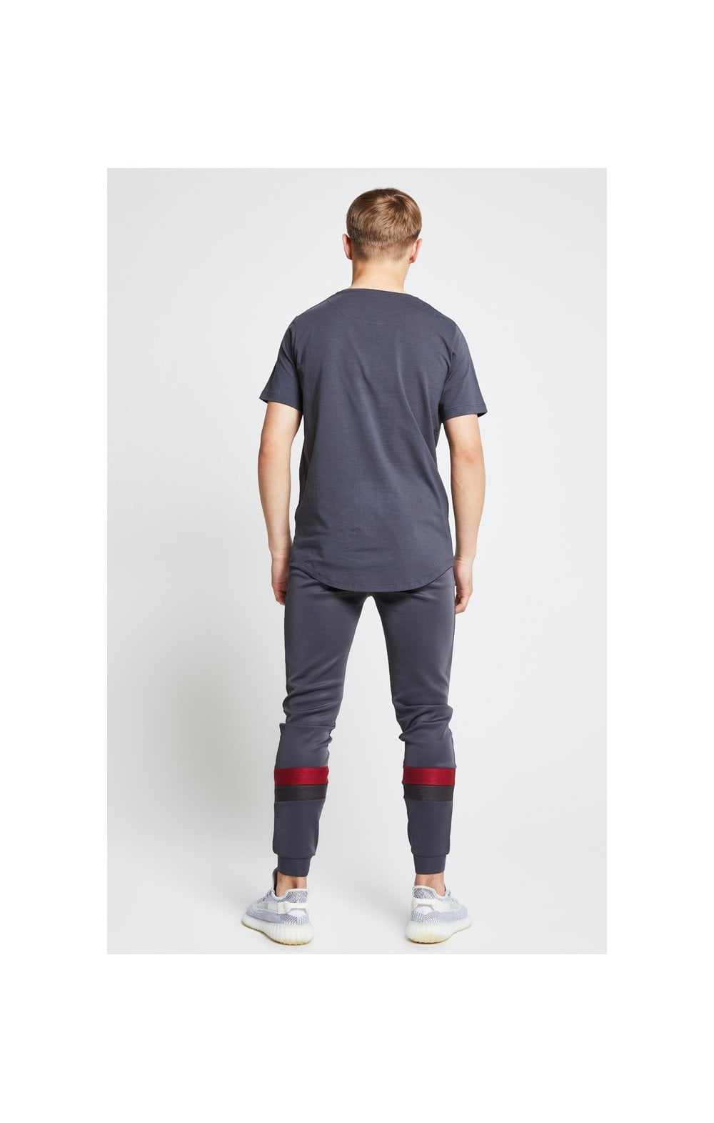 Illusive London Contrast Cut & Sew Tee - Grey & Pink (5)