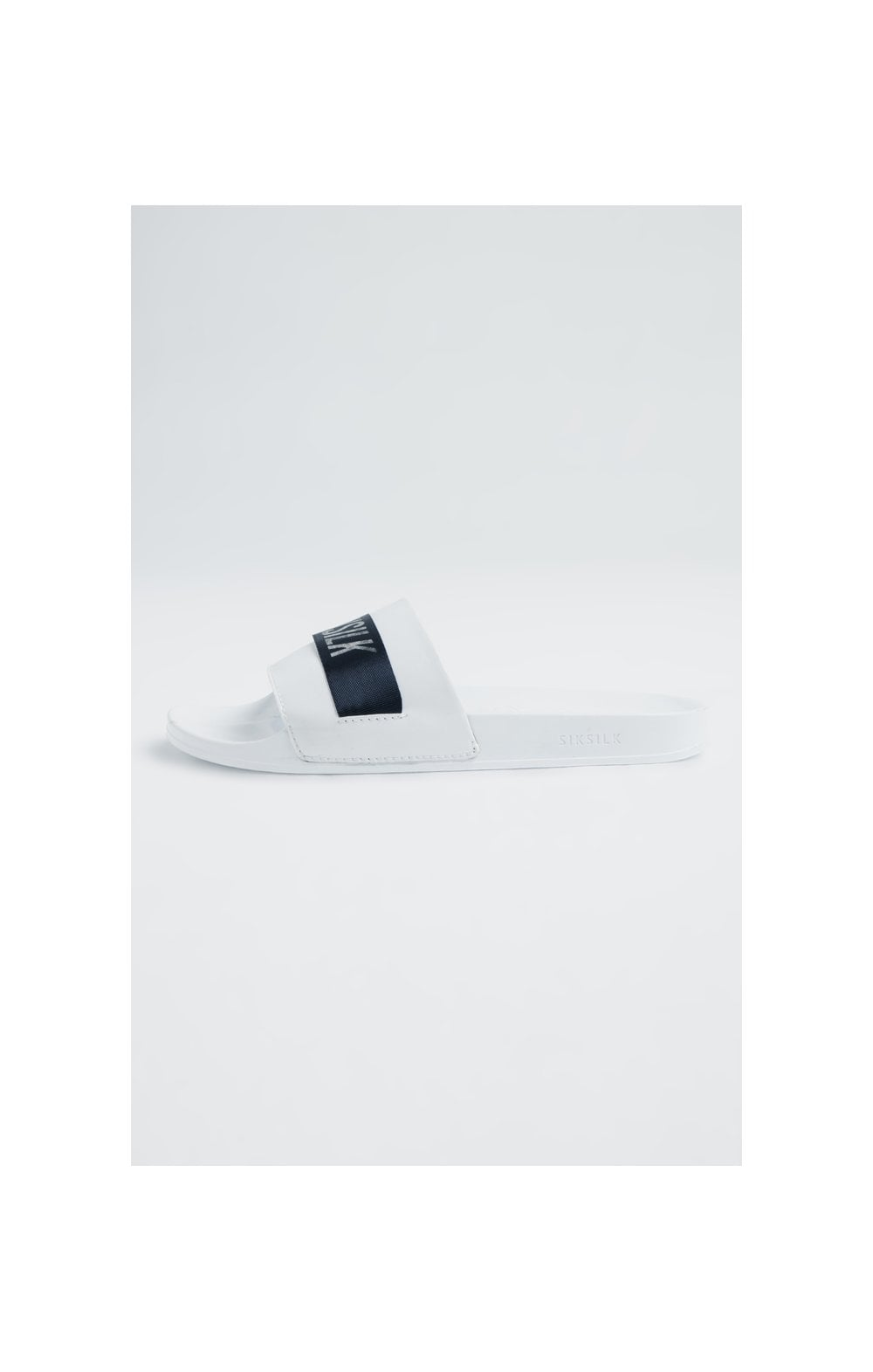 SikSilk Roma Tape Slides – Navy, White & Silver (1)