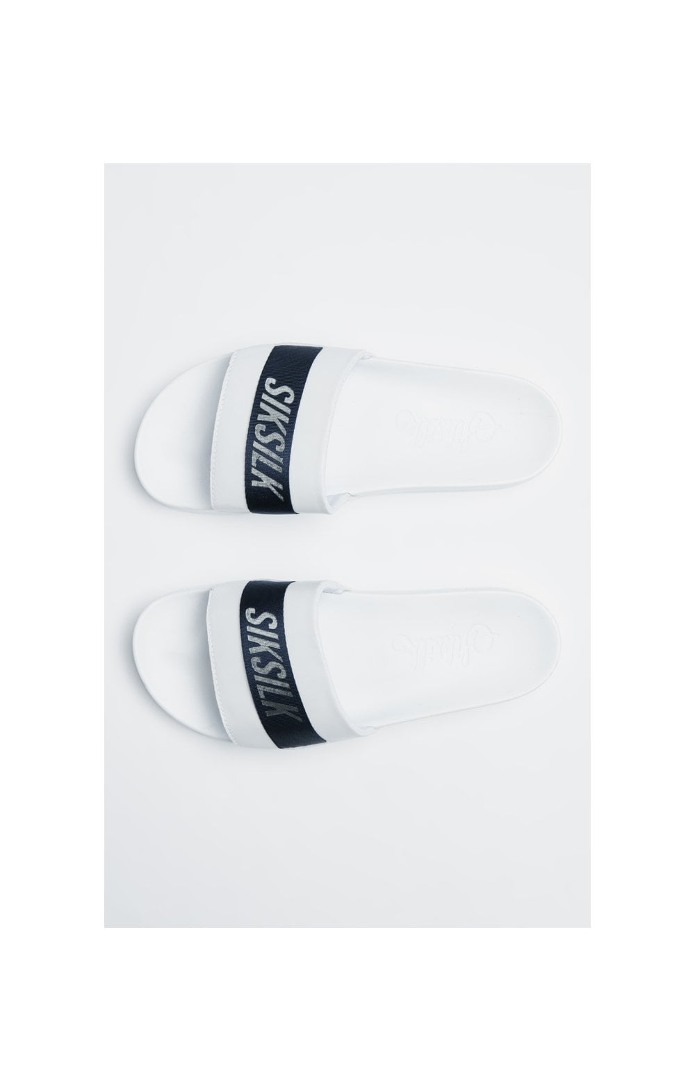 SikSilk Roma Tape Slides – Navy, White & Silver (2)