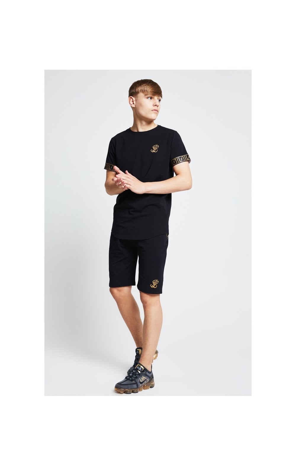 Load image into Gallery viewer, Illusive London Tape Jersey Shorts - Black (3)