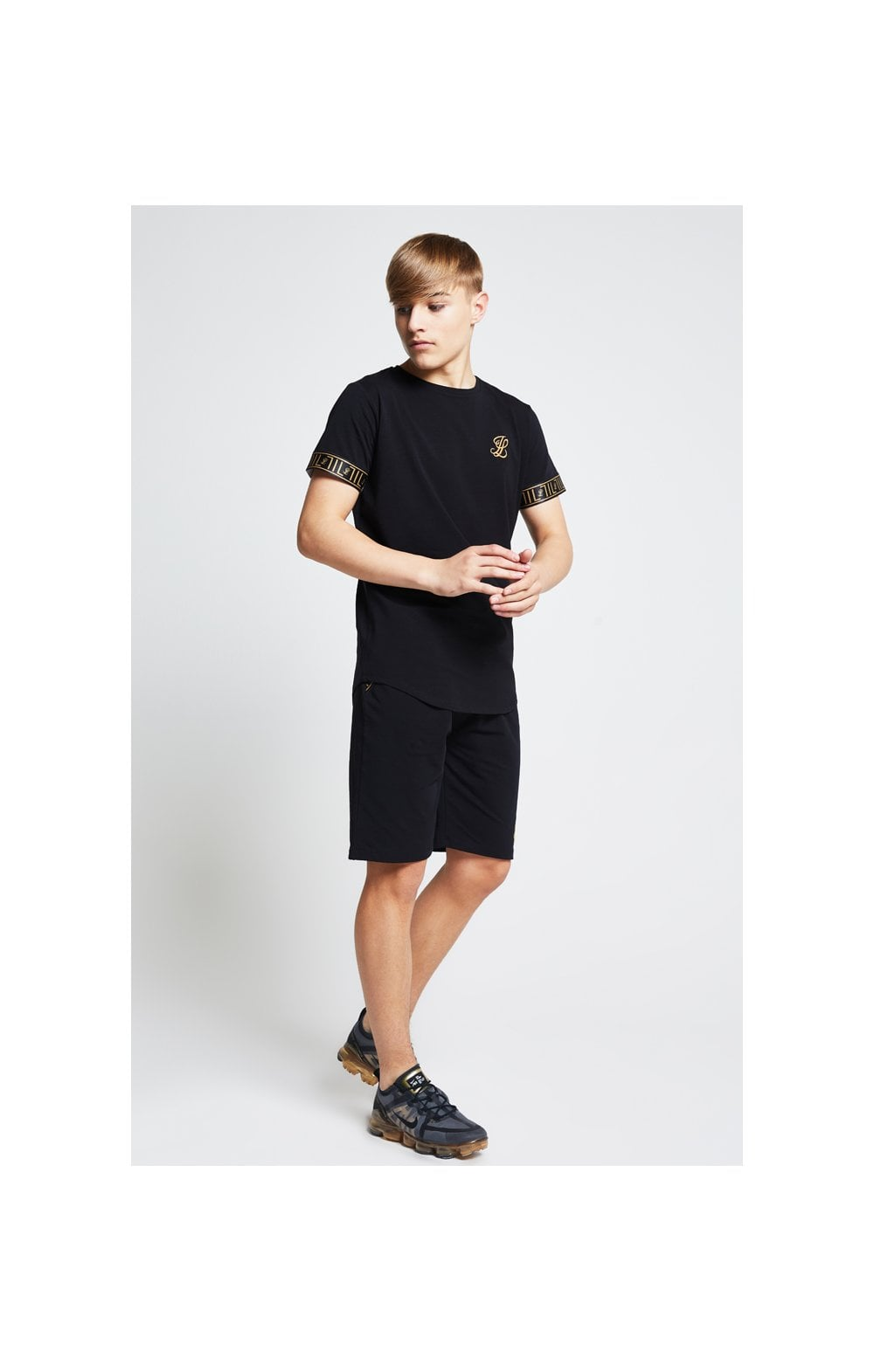 Load image into Gallery viewer, Illusive London Tape Jersey Shorts - Black (5)