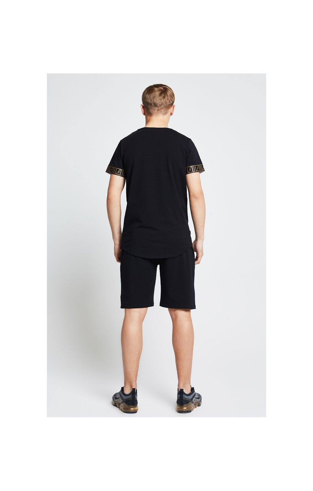 Load image into Gallery viewer, Illusive London Tape Jersey Shorts - Black (6)