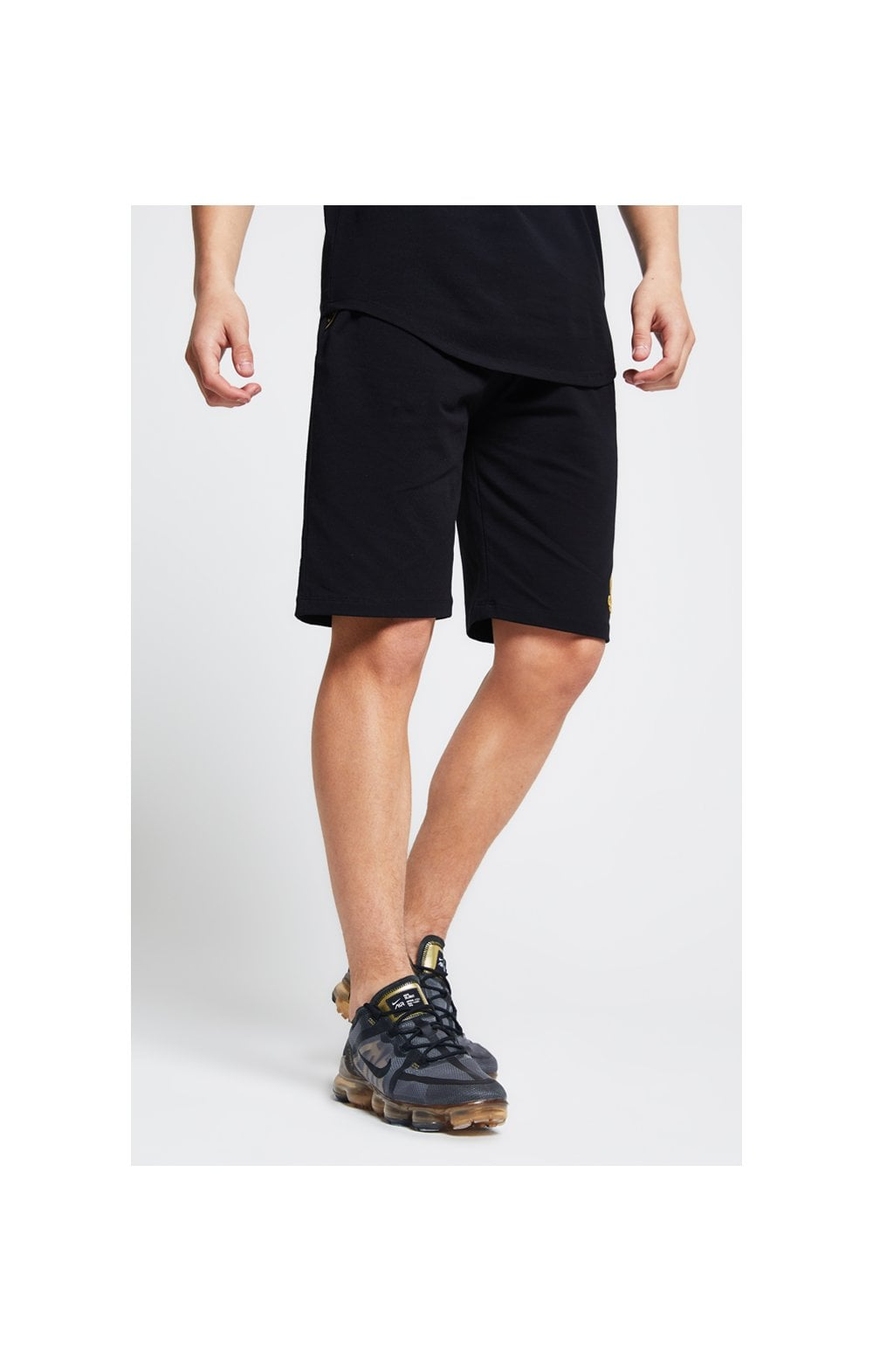Load image into Gallery viewer, Illusive London Tape Jersey Shorts - Black (1)