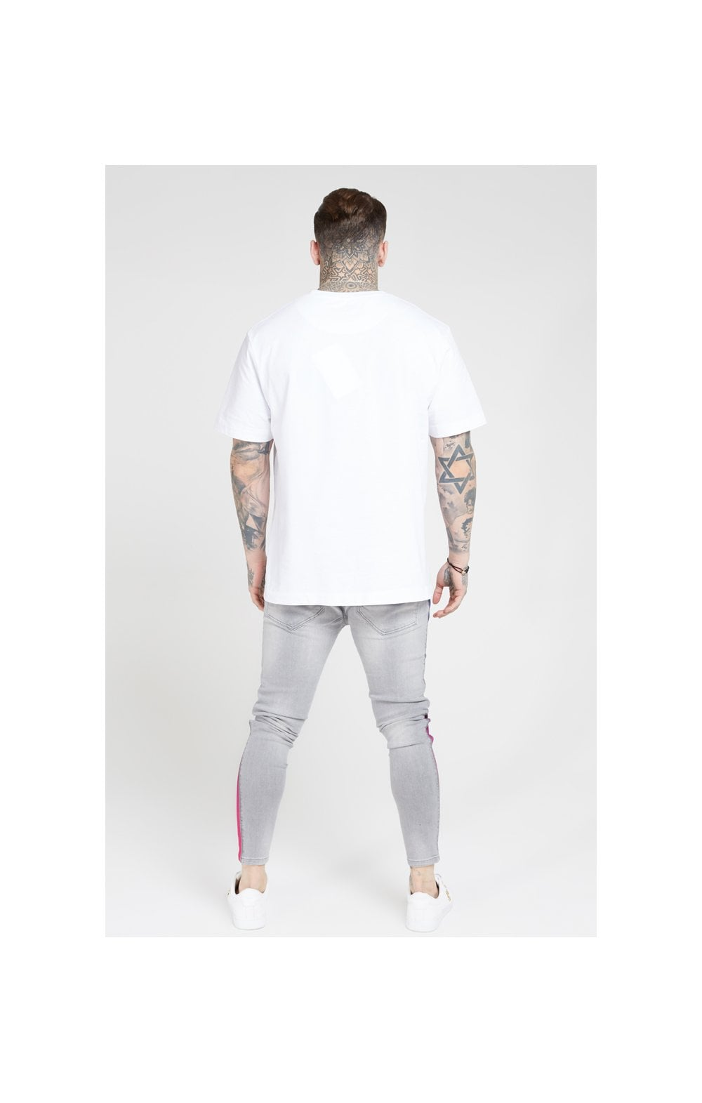 Load image into Gallery viewer, SikSilk Burst Knee Low Rise Denims - Washed Grey (6)