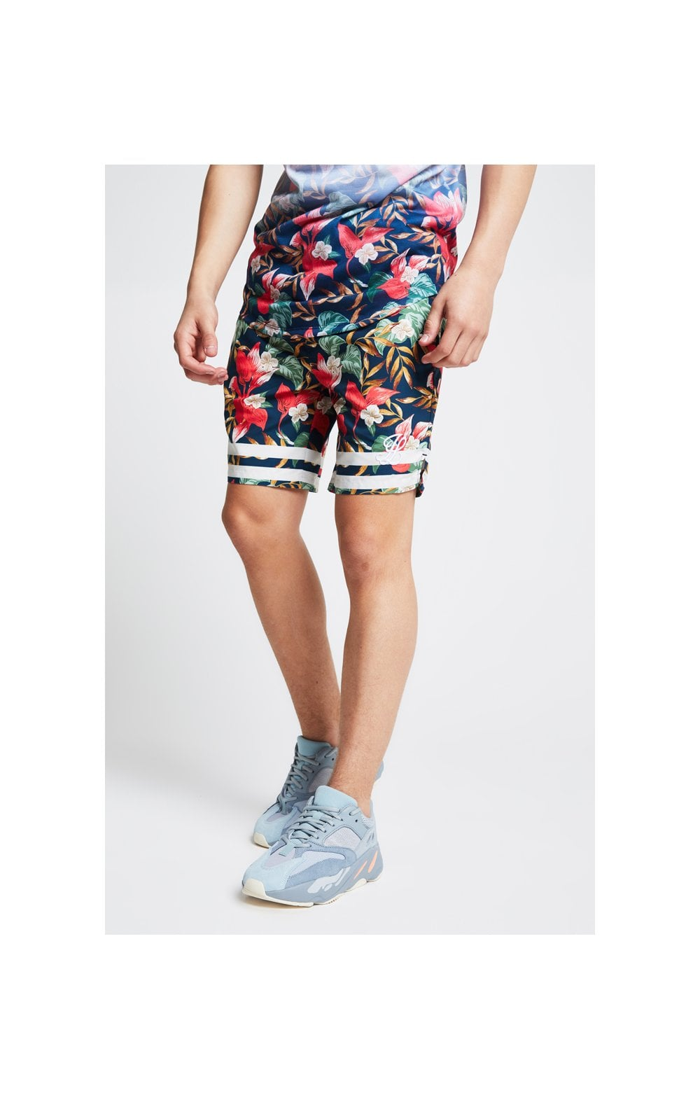 Load image into Gallery viewer, Illusive London Swim Shorts – Tropical Leaf