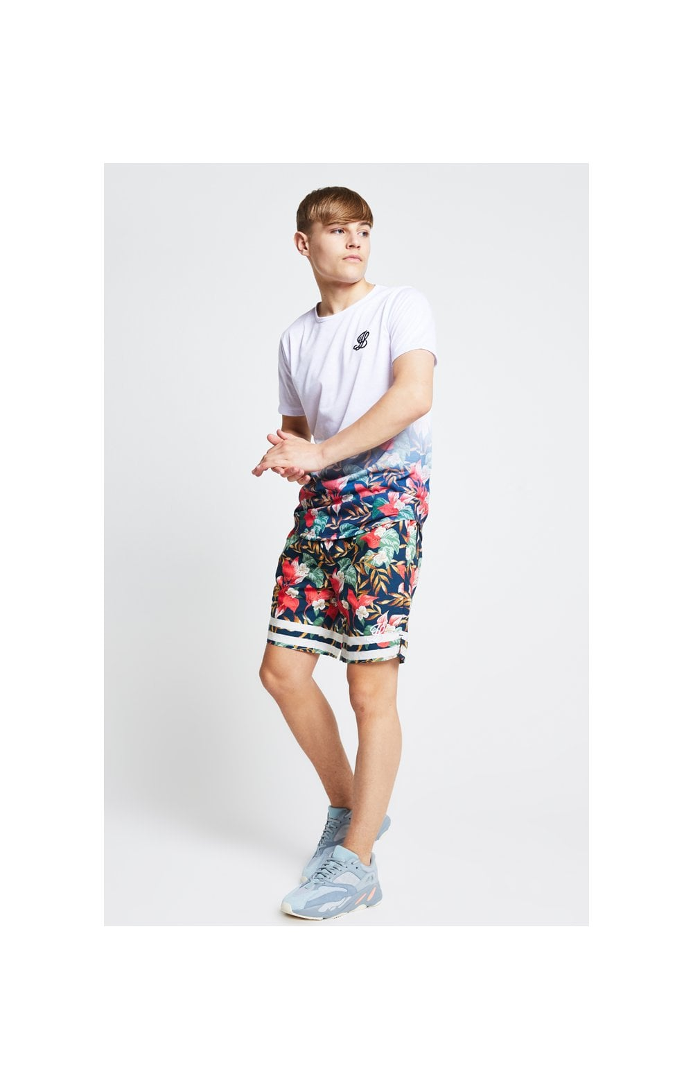 Load image into Gallery viewer, Illusive London Swim Shorts – Tropical Leaf (4)