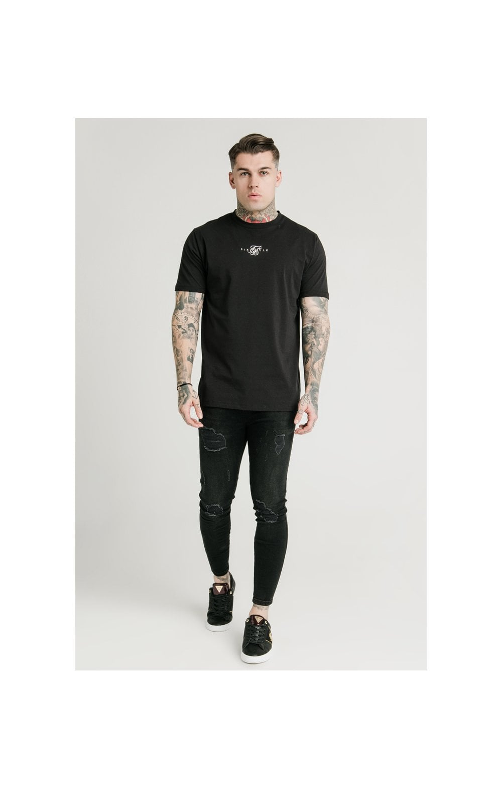 Load image into Gallery viewer, SikSilk Square Hem Standard Tee - Black (2)