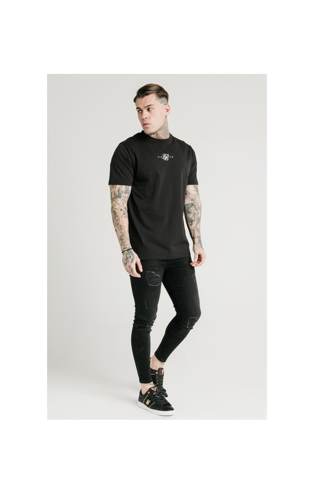 Load image into Gallery viewer, SikSilk Square Hem Standard Tee - Black (4)