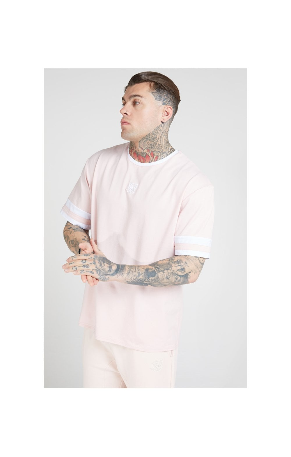 Load image into Gallery viewer, SikSilk S/S Essential Oversized Ringer Tee – Cloudy Pink