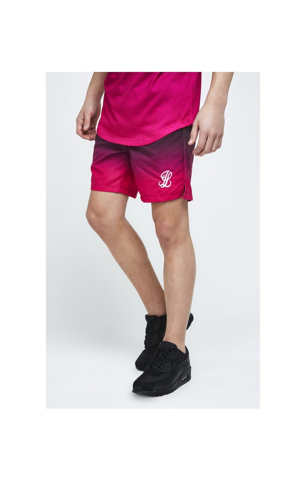 Illusive London Swim Shorts - Black & Pink