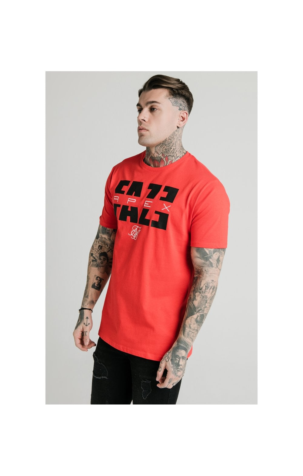SikSilk x FaZe Apex Standard Square Hem Tee - Red (2)