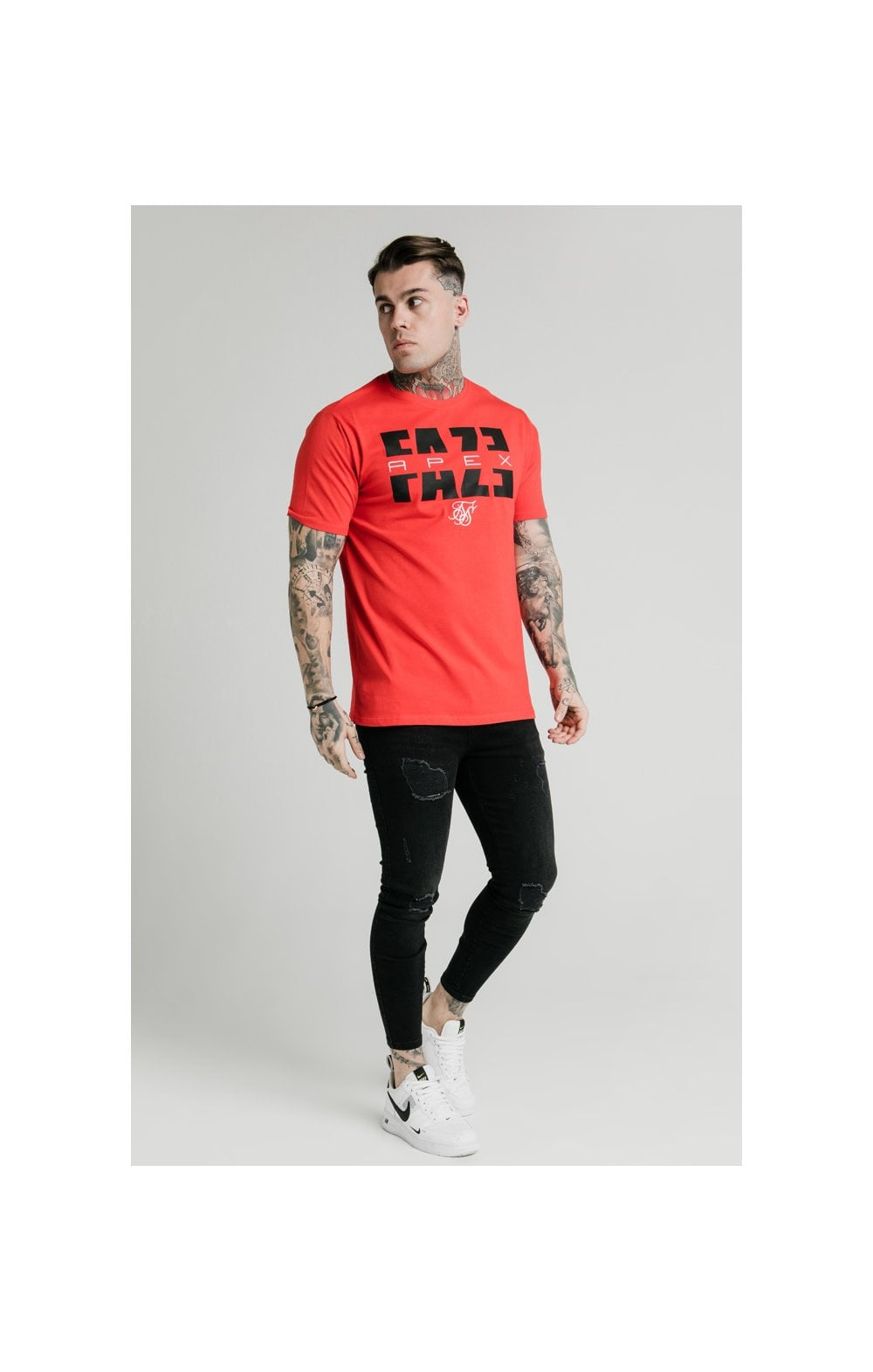 SikSilk x FaZe Apex Standard Square Hem Tee - Red (3)
