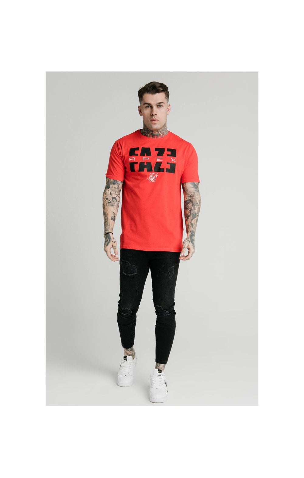 SikSilk x FaZe Apex Standard Square Hem Tee - Red (4)