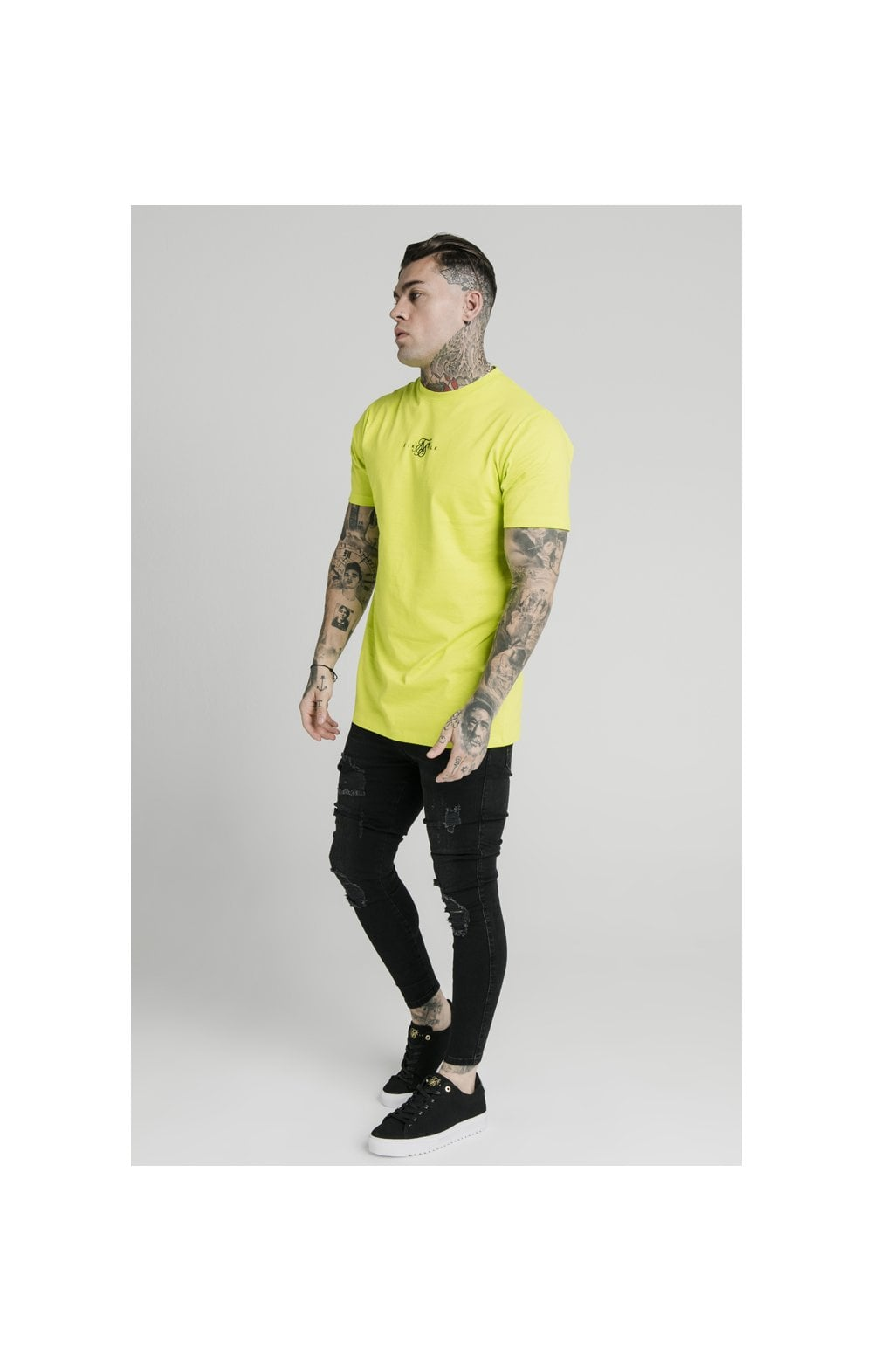 SikSilk S/S Square Hem Tee – Lime (2)