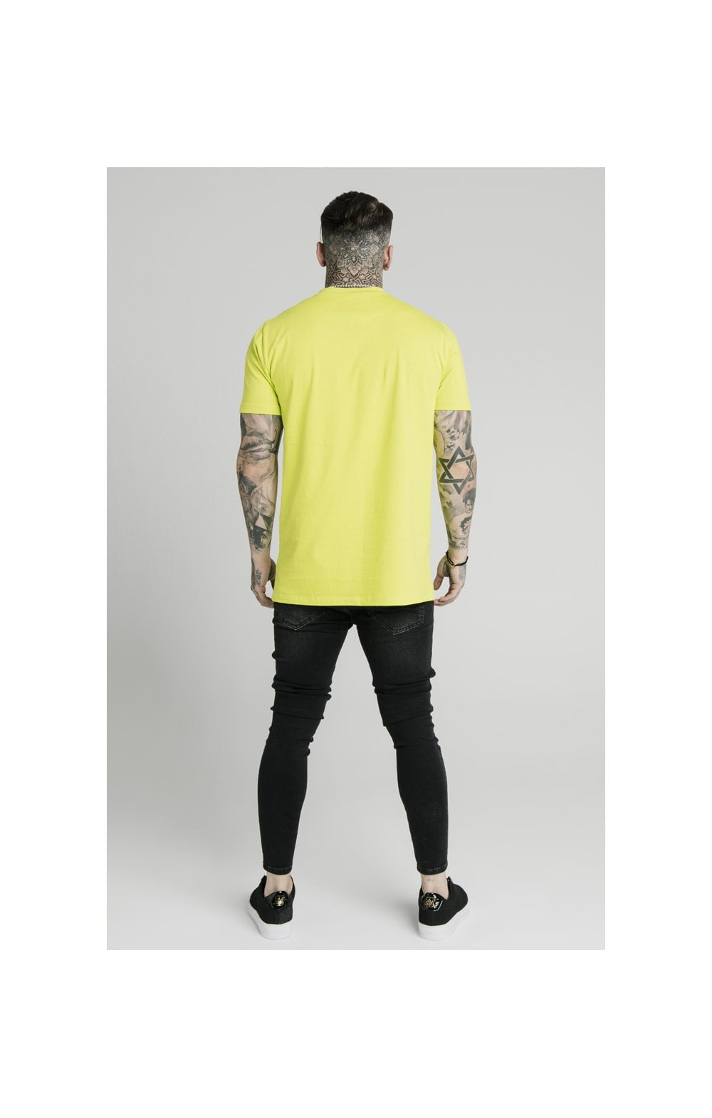 SikSilk S/S Square Hem Tee – Lime (4)