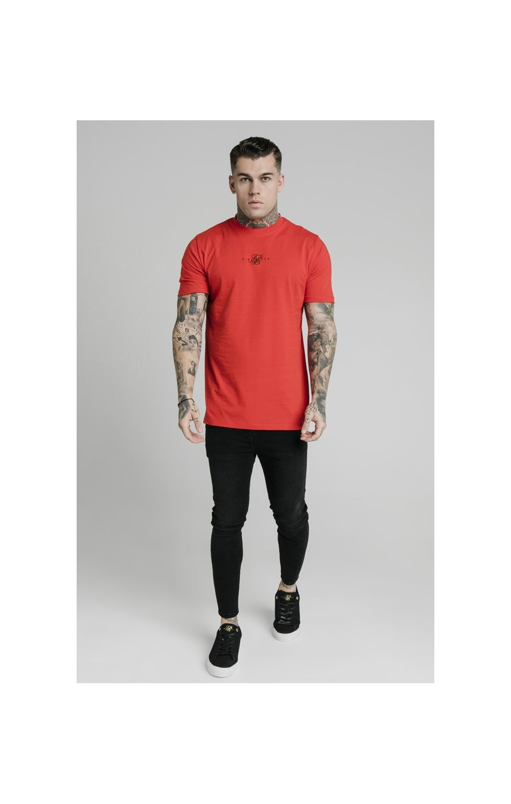 Load image into Gallery viewer, SikSilk S/S Square Hem Tee – Red (3)