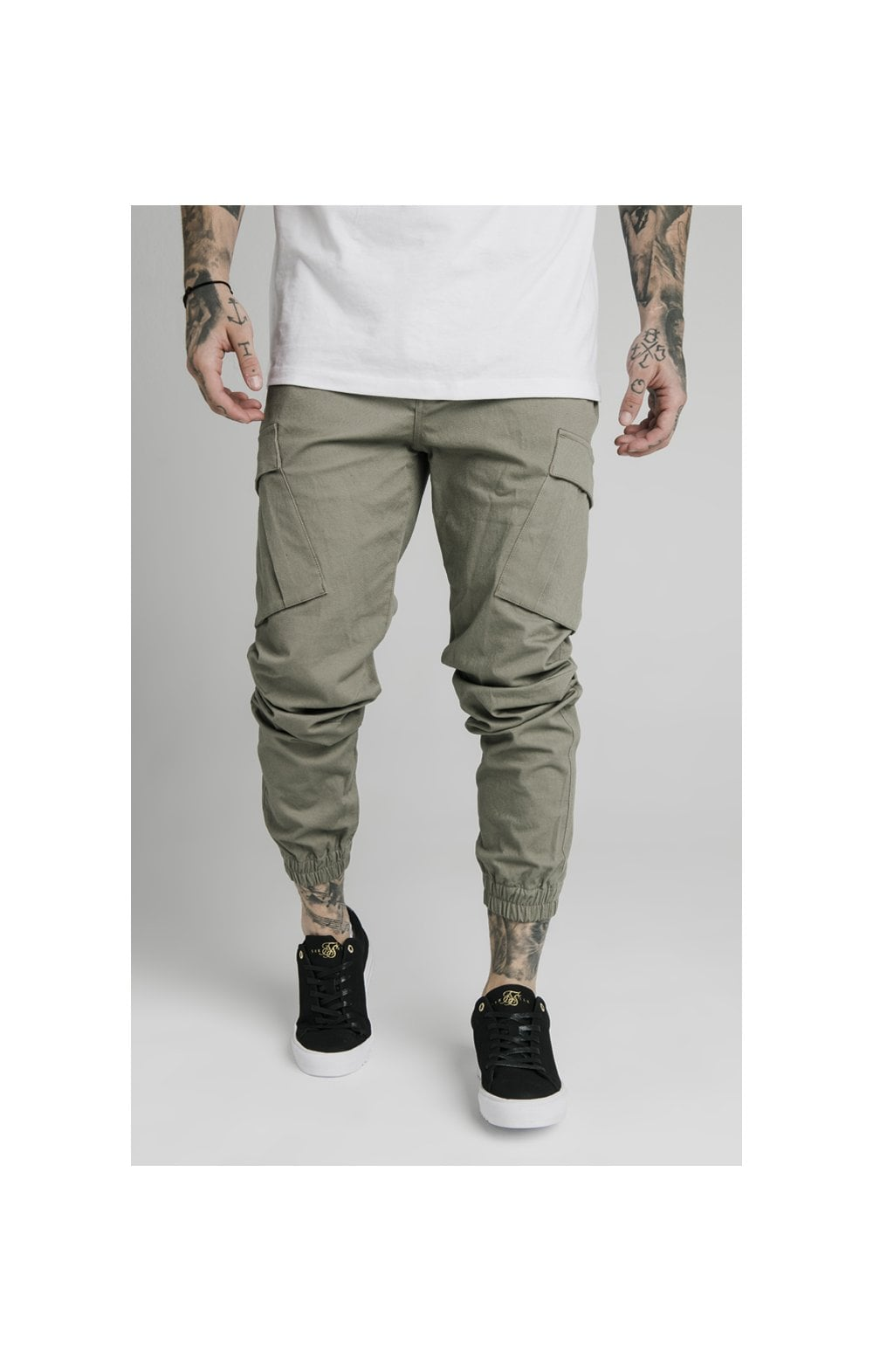 Load image into Gallery viewer, SikSilk Cargo Pants - Khaki
