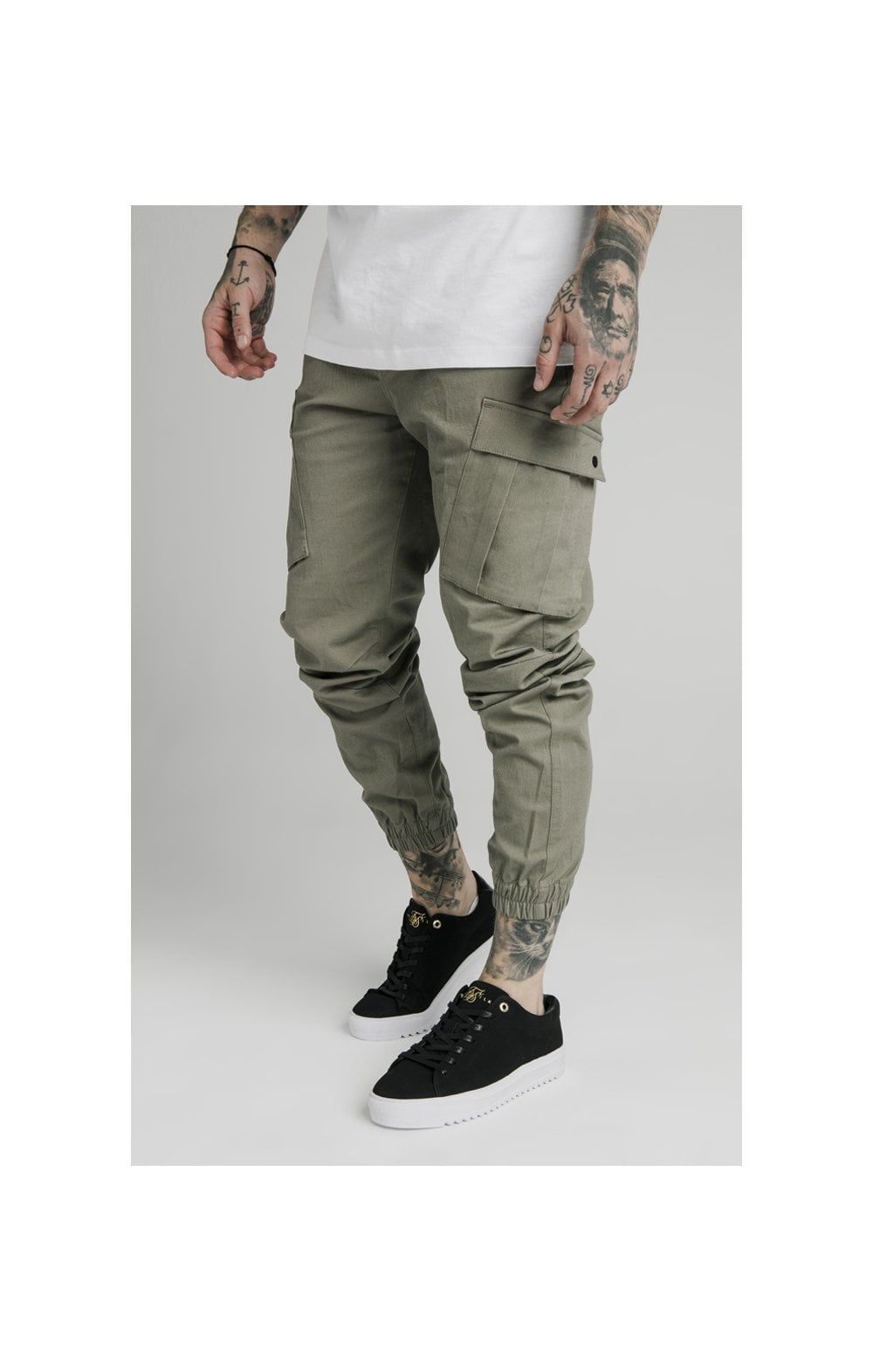 Load image into Gallery viewer, SikSilk Cargo Pants - Khaki (1)