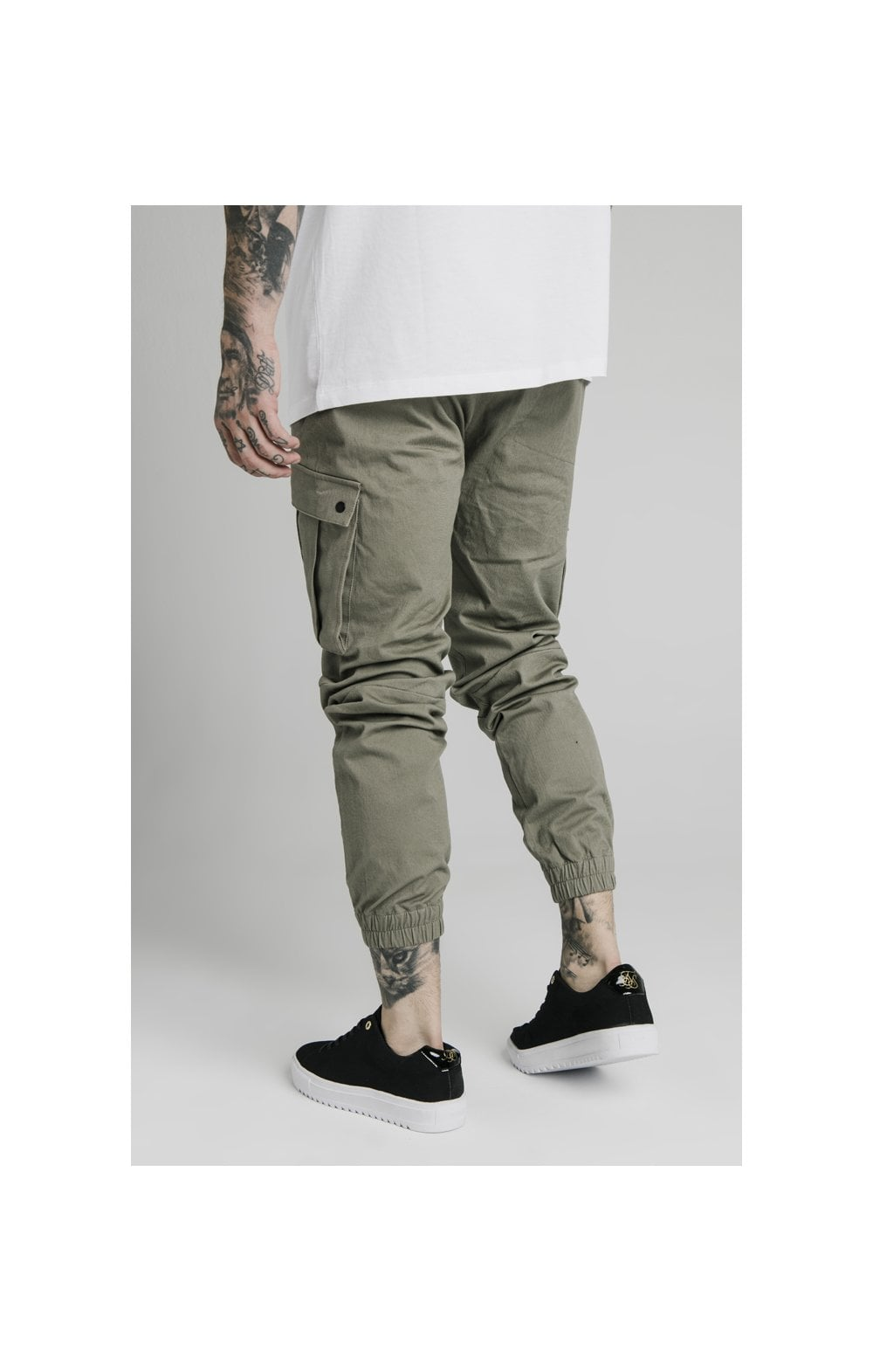 Load image into Gallery viewer, SikSilk Cargo Pants - Khaki (2)