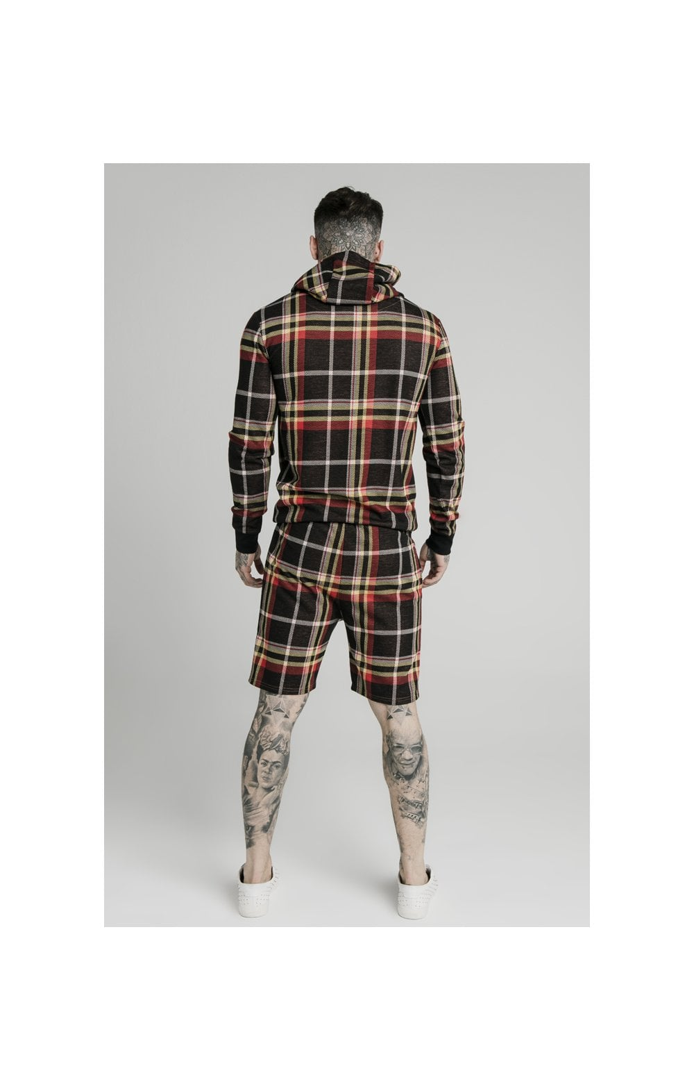 Load image into Gallery viewer, SikSilk Smart Overhead Hoodie Multi Grain Check (5)