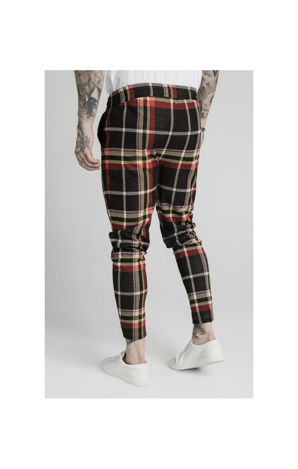 SikSilk Smart Cuff Pants - Mutil Grain Check (1)