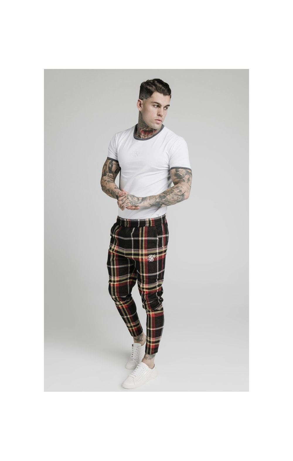 SikSilk Smart Cuff Pants - Mutil Grain Check (3)