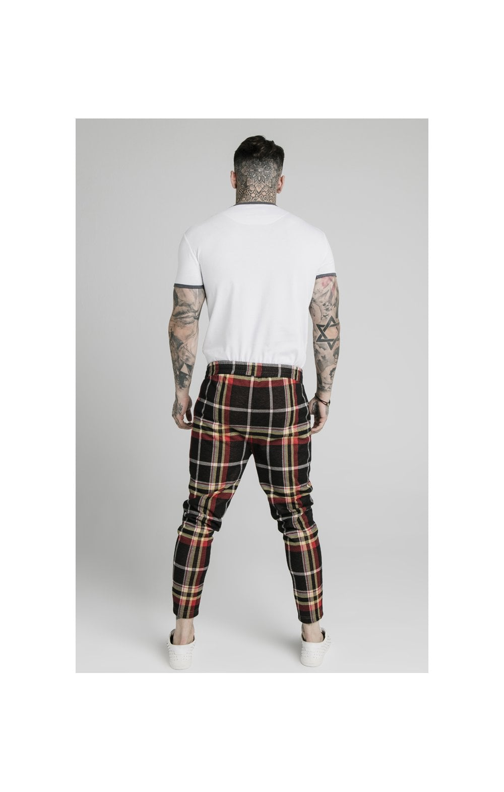 SikSilk Smart Cuff Pants - Mutil Grain Check (5)