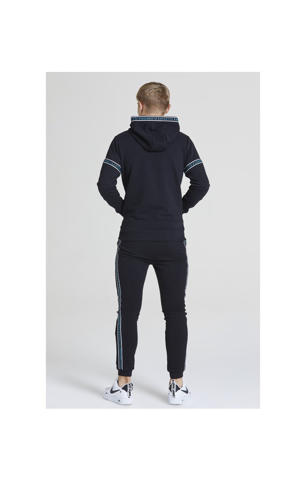 Illusive London Branded Joggers – Black & Teal Green (5)