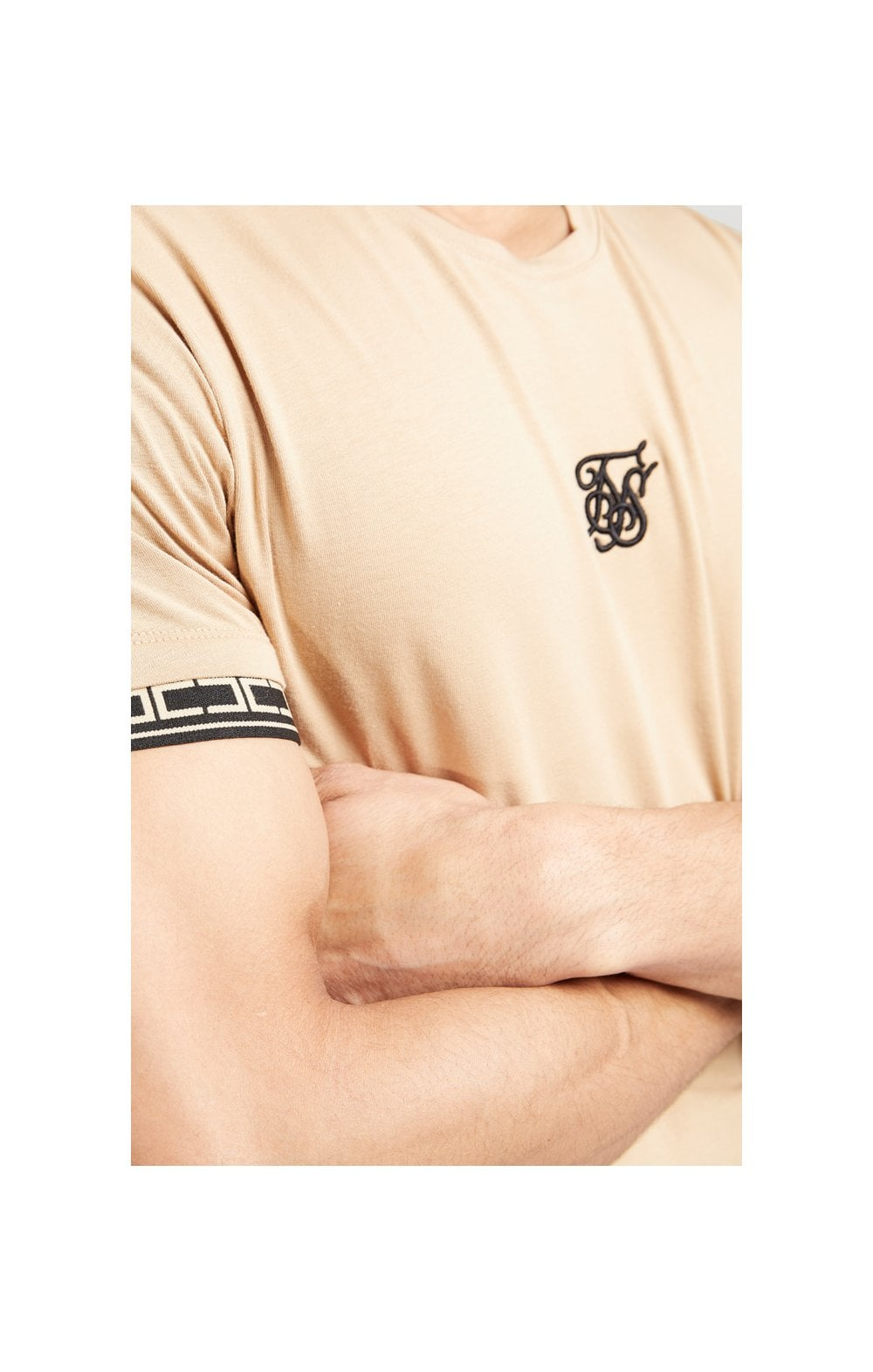 SikSilk S/S Scope Gym Tee – Beige (7)