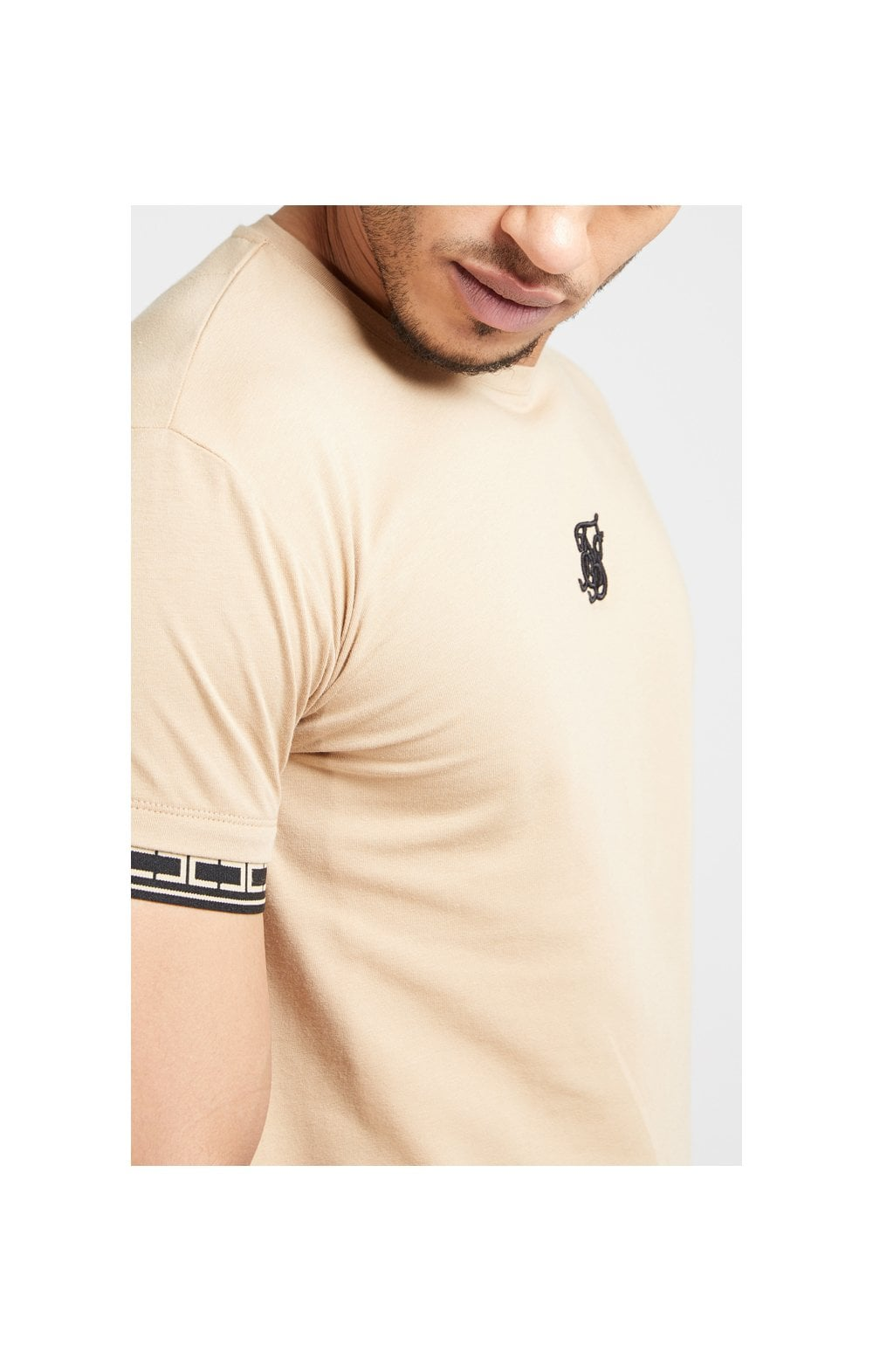 SikSilk S/S Scope Gym Tee – Beige (6)