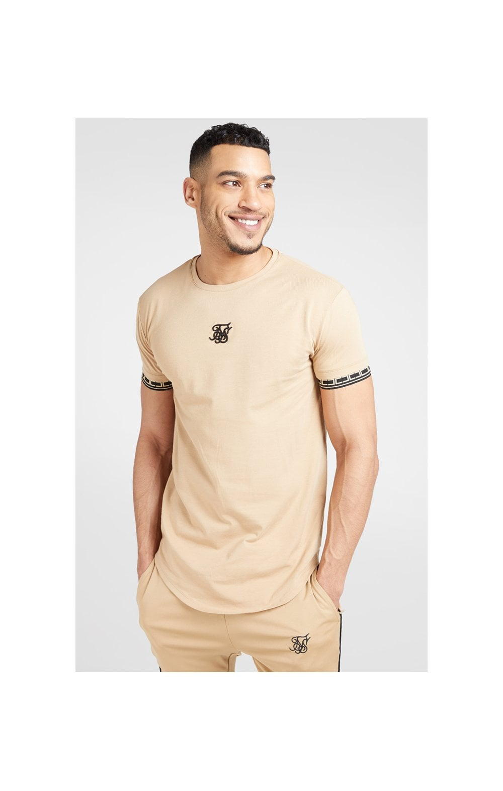 SikSilk S/S Scope Gym Tee – Beige